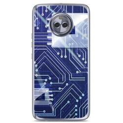 Funda Gel Tpu para Motorola Moto X4 Diseño Circuito Dibujos