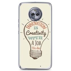 Funda Gel Tpu para Motorola Moto X4 Diseño Creativity Dibujos