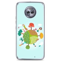 Funda Gel Tpu para Motorola Moto X4 Diseño Familia Dibujos