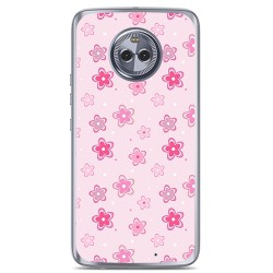 Funda Gel Tpu para Motorola Moto X4 Diseño Flores Dibujos