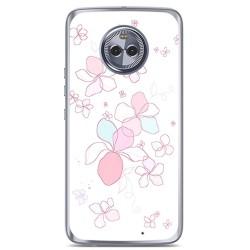 Funda Gel Tpu para Motorola Moto X4 Diseño Flores Minimal Dibujos