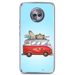 Funda Gel Tpu para Motorola Moto X4 Diseño Furgoneta Dibujos