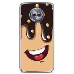 Funda Gel Tpu para Motorola Moto X4 Diseño Helado Chocolate Dibujos