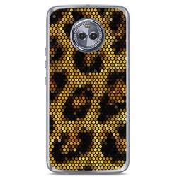 Funda Gel Tpu para Motorola Moto X4 Diseño Leopardo Dibujos
