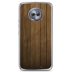 Funda Gel Tpu para Motorola Moto X4 Diseño Madera Dibujos