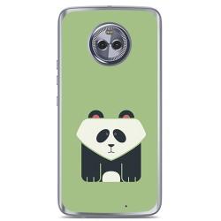 Funda Gel Tpu para Motorola Moto X4 Diseño Panda Dibujos
