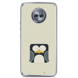 Funda Gel Tpu para Motorola Moto X4 Diseño Pingüino Dibujos