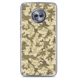 Funda Gel Tpu para Motorola Moto X4 Diseño Sand Camuflaje Dibujos