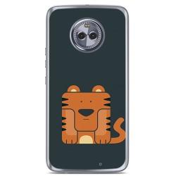 Funda Gel Tpu para Motorola Moto X4 Diseño Tigre Dibujos