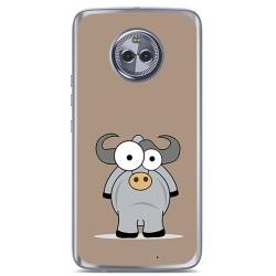 Funda Gel Tpu para Motorola Moto X4 Diseño Toro Dibujos
