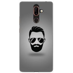 Funda Gel Tpu para Nokia 7 Plus Diseño Barba Dibujos