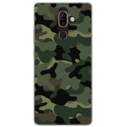 Funda Gel Tpu para Nokia 7 Plus Diseño Camuflaje Dibujos