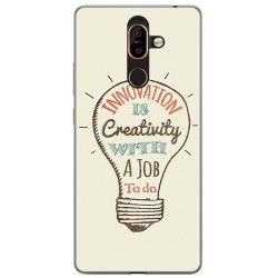 Funda Gel Tpu para Nokia 7 Plus Diseño Creativity Dibujos