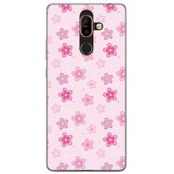 Funda Gel Tpu para Nokia 7 Plus Diseño Flores Dibujos