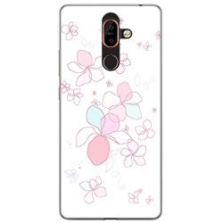 Funda Gel Tpu para Nokia 7 Plus Diseño Flores Minimal Dibujos