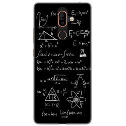Funda Gel Tpu para Nokia 7 Plus Diseño Formulas Dibujos