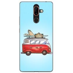 Funda Gel Tpu para Nokia 7 Plus Diseño Furgoneta Dibujos