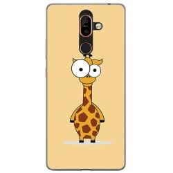 Funda Gel Tpu para Nokia 7 Plus Diseño Jirafa Dibujos