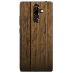 Funda Gel Tpu para Nokia 7 Plus Diseño Madera Dibujos