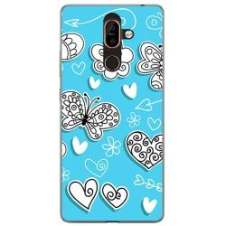 Funda Gel Tpu para Nokia 7 Plus Diseño Mariposas Dibujos