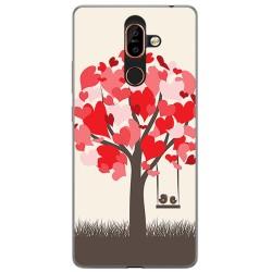 Funda Gel Tpu para Nokia 7 Plus Diseño Pajaritos Dibujos