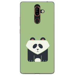Funda Gel Tpu para Nokia 7 Plus Diseño Panda Dibujos