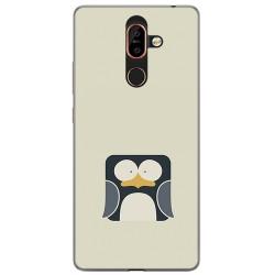 Funda Gel Tpu para Nokia 7 Plus Diseño Pingüino Dibujos