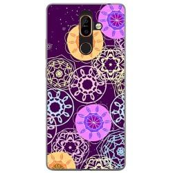 Funda Gel Tpu para Nokia 7 Plus Diseño Radial Dibujos