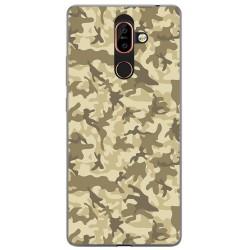 Funda Gel Tpu para Nokia 7 Plus Diseño Sand Camuflaje Dibujos