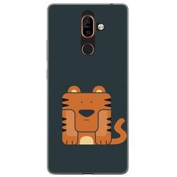 Funda Gel Tpu para Nokia 7 Plus Diseño Tigre Dibujos