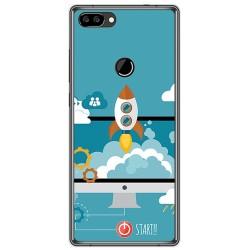 Funda Gel Tpu para Oukitel Mix 2 Diseño Cohete Dibujos