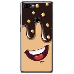 Funda Gel Tpu para Oukitel Mix 2 Diseño Helado Chocolate Dibujos