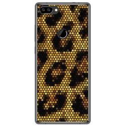 Funda Gel Tpu para Oukitel Mix 2 Diseño Leopardo Dibujos