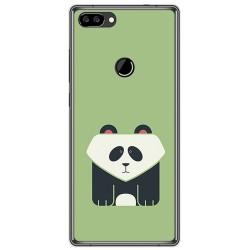 Funda Gel Tpu para Oukitel Mix 2 Diseño Panda Dibujos