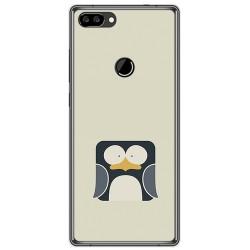 Funda Gel Tpu para Oukitel Mix 2 Diseño Pingüino Dibujos