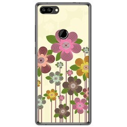 Funda Gel Tpu para Oukitel Mix 2 Diseño Primavera En Flor Dibujos