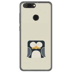 Funda Gel Tpu para Zte Blade V9 Diseño Pingüino Dibujos