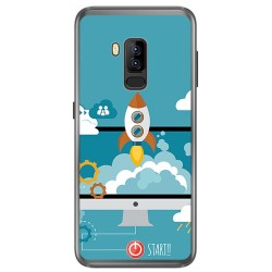 Funda Gel Tpu para Bluboo S8 Plus Diseño Cohete Dibujos