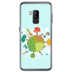 Funda Gel Tpu para Bluboo S8 Plus Diseño Familia Dibujos