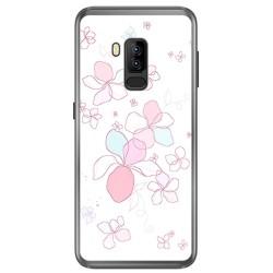 Funda Gel Tpu para Bluboo S8 Plus Diseño Flores Minimal Dibujos