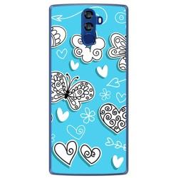 Funda Gel Tpu para Doogee Bl12000 Diseño Mariposas Dibujos