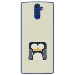 Funda Gel Tpu para Doogee Bl12000 Diseño Pingüino Dibujos