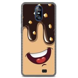 Funda Gel Tpu para Homtom S12 Diseño Helado Chocolate Dibujos