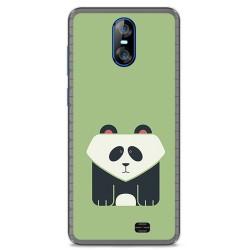Funda Gel Tpu para Homtom S12 Diseño Panda Dibujos