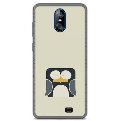 Funda Gel Tpu para Homtom S12 Diseño Pingüino Dibujos