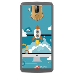 Funda Gel Tpu para Oukitel K10 Diseño Cohete Dibujos
