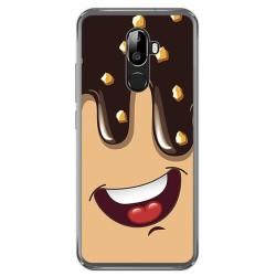 Funda Gel Tpu para Oukitel U18 Diseño Helado Chocolate Dibujos