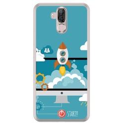 Funda Gel Tpu para Ulefone Power 3 / 3S Diseño Cohete Dibujos