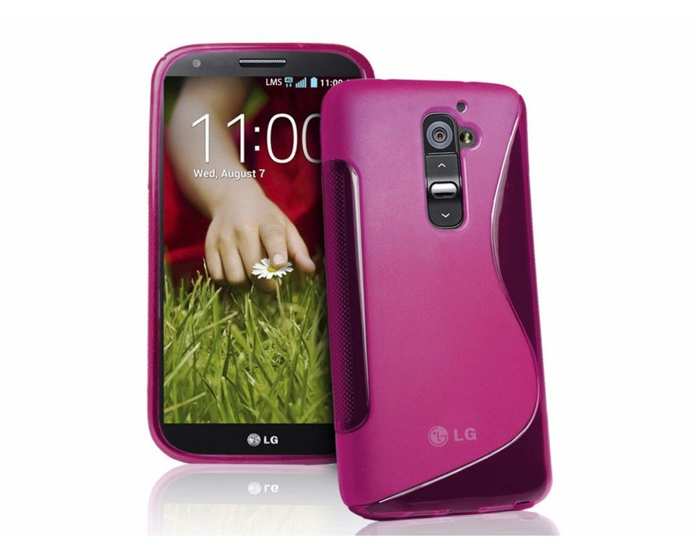 Funda Gel Tpu Lg Optimus G2 D802 S Line Color Rosa