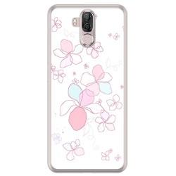 Funda Gel Tpu para Ulefone Power 3 / 3S Diseño Flores Minimal Dibujos